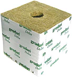 "Grodan Cubes Small Hole 4/"" Inch Growing Media"